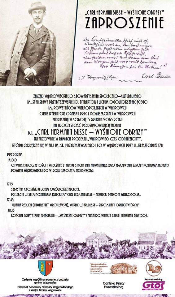 Przypomną Słynnego Absolwenta Królewskiego Gimnazjum Oficjalna